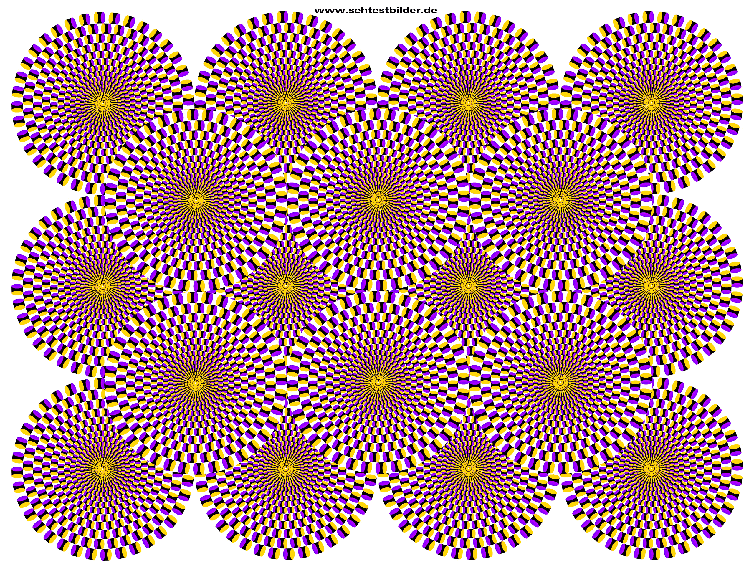 Optische Illusion - drehende Kreise | erzählnacht 2015 | Pinterest ...
