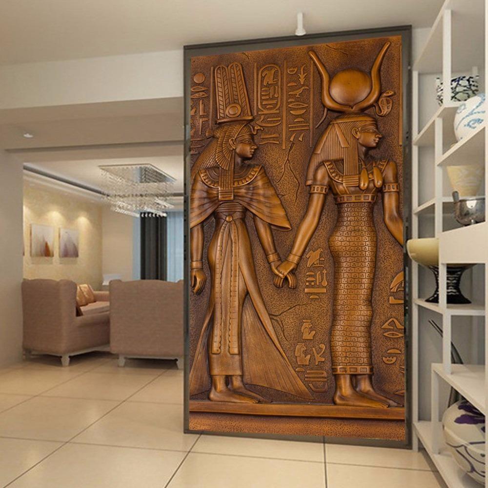 Ancient Egyptian Pharaoh Entrance Corridor Mural Wallpaper ...
