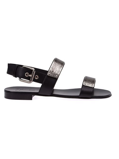 95f7550ed92b8 Shop Giuseppe Zanotti Design double strap sandals in L'Eclaireur from the  world's best independent