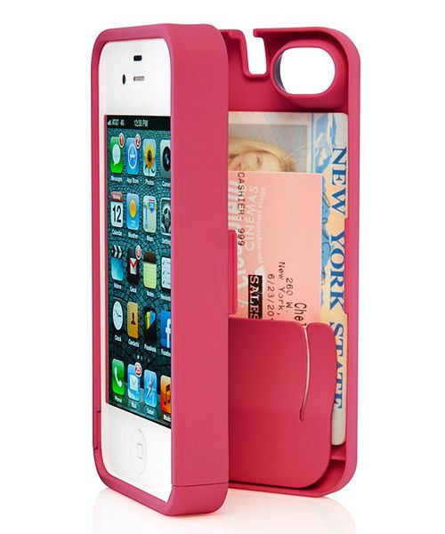 This amazing case is perfect for anyone on the go. Not only does it securely hold an iPhone 5/5S, but it even opens to reveal an enclosed mirror and space to carry necessities like bank cards, IDs and cash. The eyn case also allows for easy access to all ports and controls and features a kickstand for face timing and video streaming.2.38'' W x 5'' H x 0.75'' D