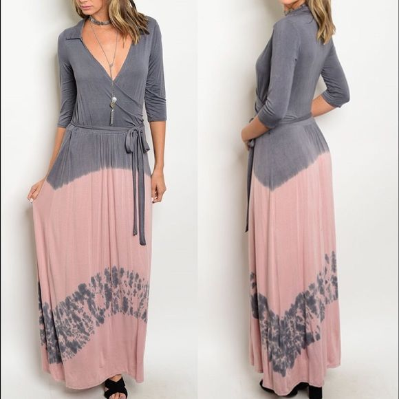 🍥 Neiman Marcus Cirana Maxi Wrap Dress 🍥 You're sure to turn heads everywhere you go. I love how they placed pink and grey together! How gorgeous! The tie dye is just a bonus! The length is approx 56' from Shoulder to hem * Half-length sleeves. * Relaxed silhouette. * Straight hem. * Pullover style. * Rayon/spandex. 💁🏾✨Happy Poshing!  🌟 Suggested User 🌟 🙋🏾 Top 10% Sharer/Mentor ⭐️⭐️⭐️⭐️⭐️ 5 star Gal 📫 Fast Shipper!  Ships Same/Next Day📦  🏡 Odor Free 🐩 Pet Free 🚫 PayPal/Trade/low…