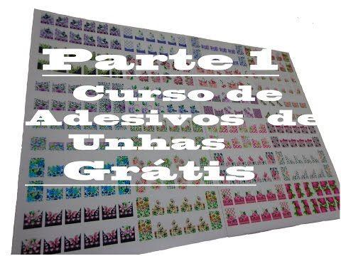 CURSO DE ADESIVOS DE UNHAS GRÁTIS -1ª PARTE - YouTube