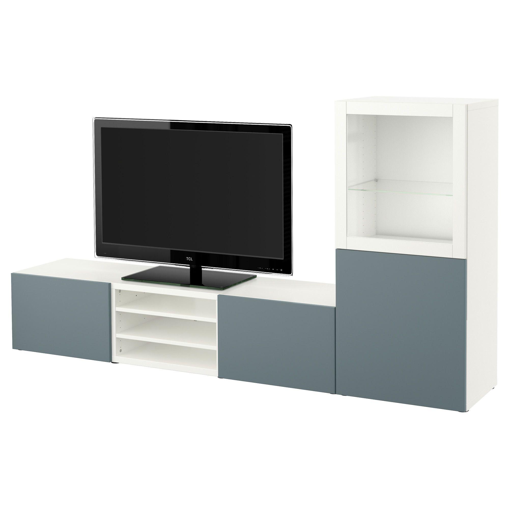 Ikea Best Tv Storage Combinationglass Doors White Valviken
