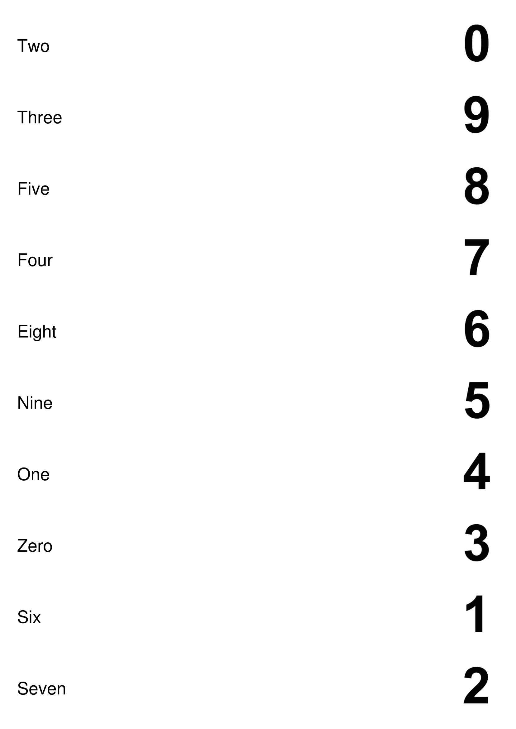 Number Matching Worksheets Free