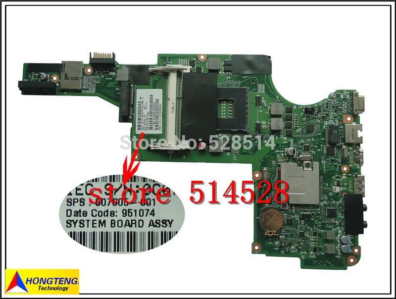 79.98$  Watch now - http://aidks.worlditems.win/all/product.php?id=32245748360 - original 607605-001  DV5 DV5-2000 HM55 Laptop Motherboard Mainboard For HP  100% Test ok
