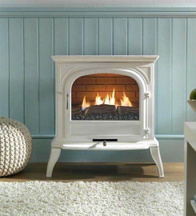 Eko Fires 6010 White Flueless Gas Stove Flueless Gas Stove Electric Stove Fireplace Fireplace Heater
