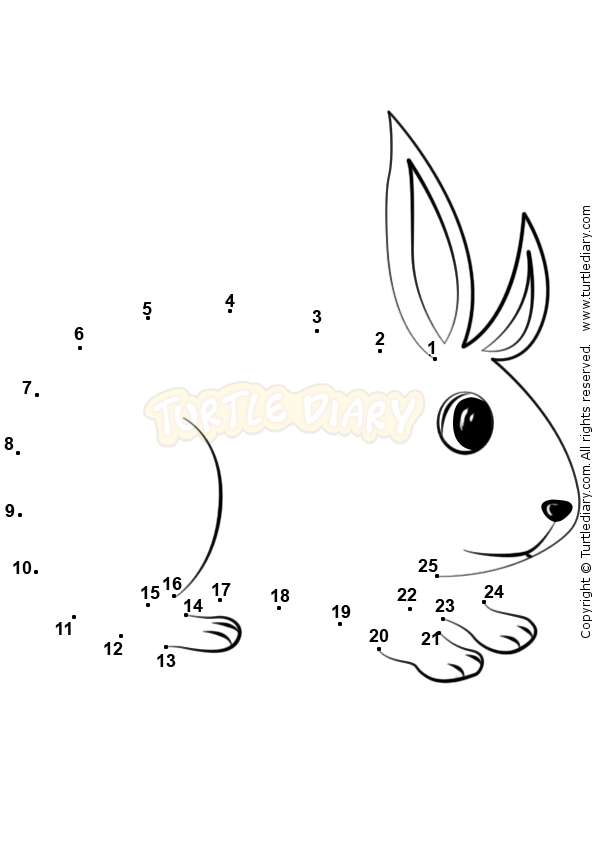 Connect Number 1-25 - math Worksheets - preschool Worksheets ...