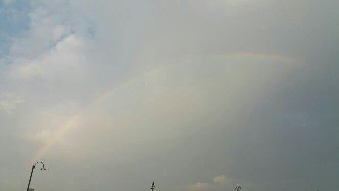 قوس قزح بالكويت فترة الصباح Clouds Outdoor