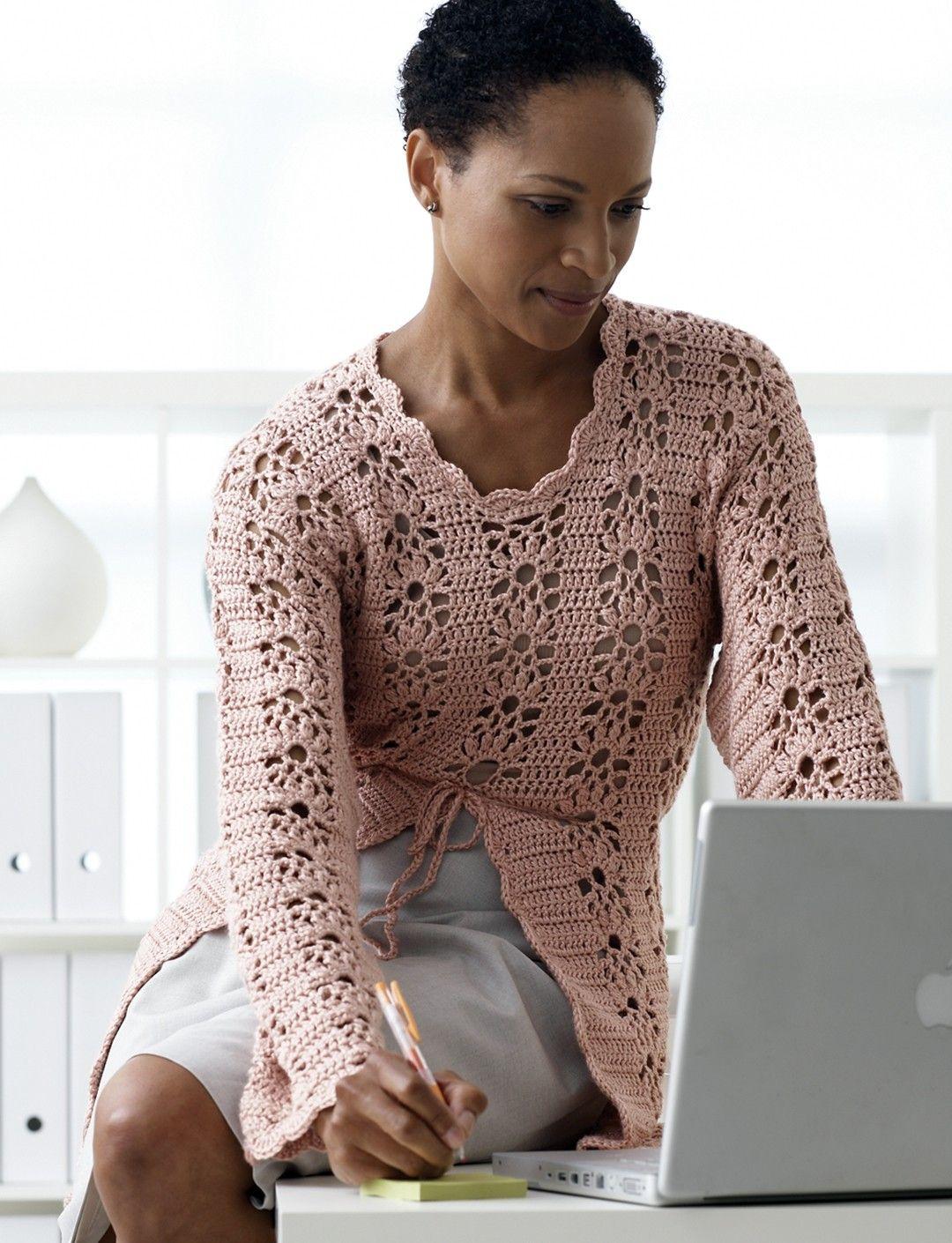 Yarnspirations.com - Patons Lacy Crochet Tunic - Patterns ...