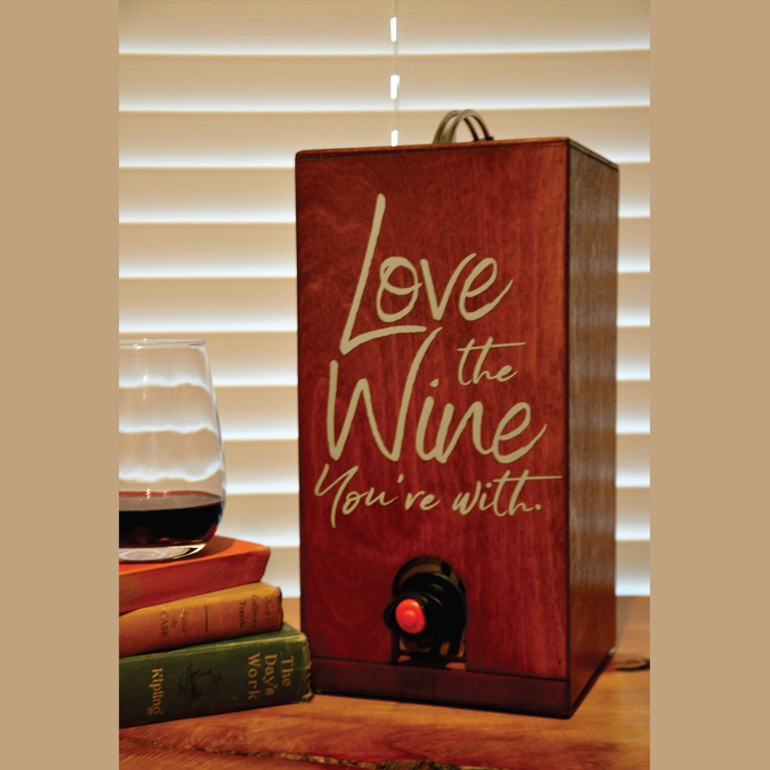 Box Of Wine Cover Holder Dispenser For Boxed Wine Wine Etsy In 2020 Wine Box Wine Box Diy Wine Gifts