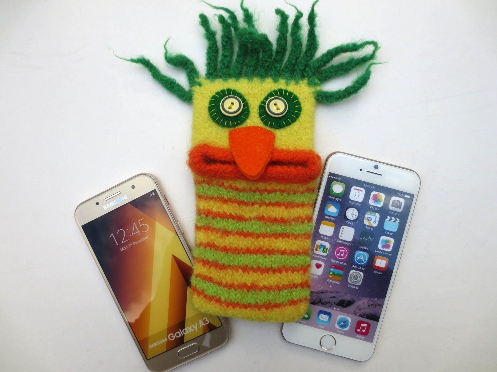 M Phone Bag Titus Mobile Phone Monster Felted Smartphone Case Samsung Galaxy A 3 Iphone 6 Iphone 8 Mit Bildern Handytasche Smartphone Hulle Iphone
