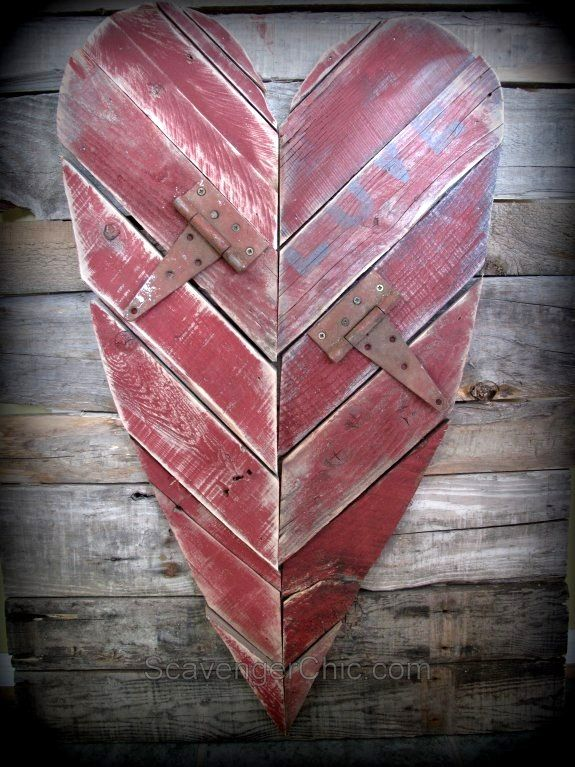 Salvaged junk hearts - make your own valentines, junk style!Funky Junk Interiors
