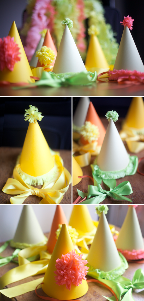 Bonetes de fiesta. Party Hats DIY + Template ee7c194163e