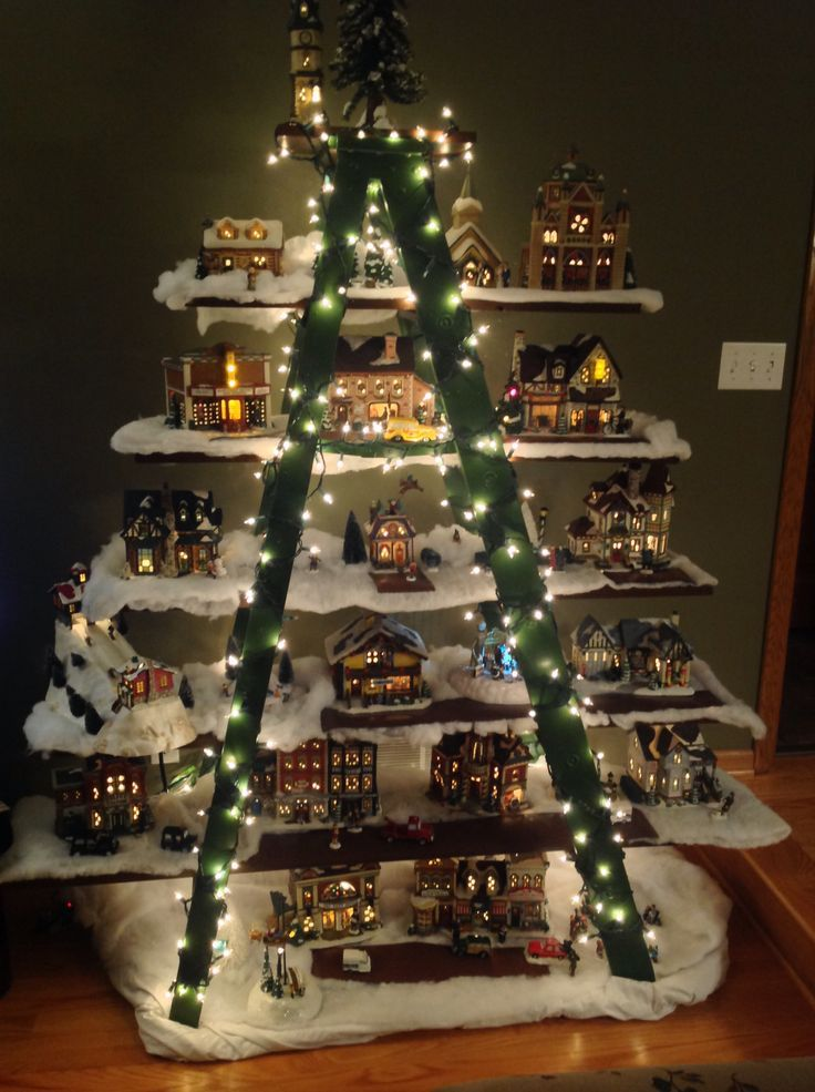 Christmas Tree Village Display Diy Christmas Tree Topper Lego Christmas Tree Diy Tree