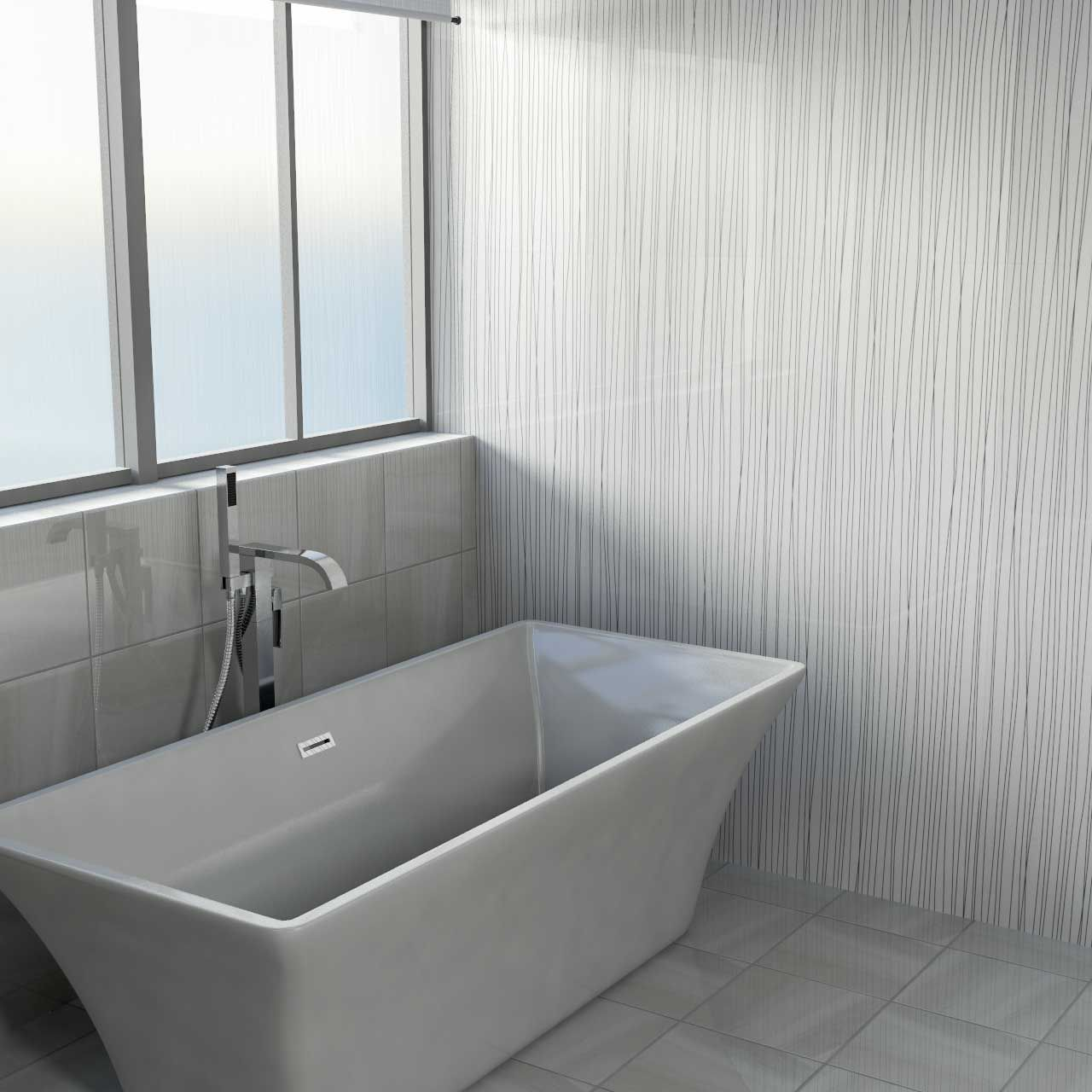 White Strings Wall Panel 1000x2400x10mm | Waterproof ...