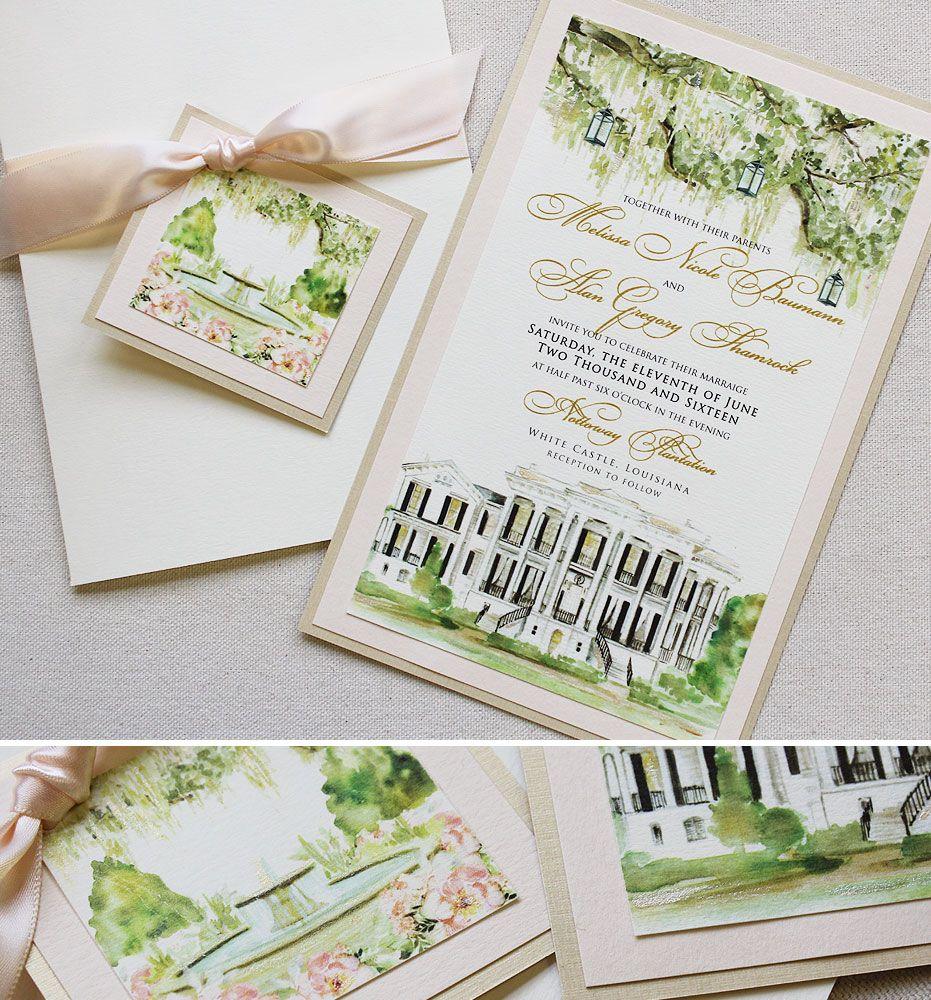 Patricia B. - Custom Venue Illustration Wedding Invitation | Perfect ...