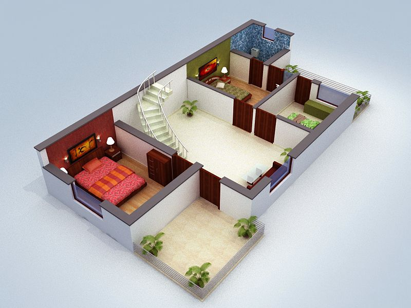 Floor Plan For Apartment Interior Click On This Link Http Www Apnaghar Co In Pre Design House Plan Free Floor Plans Floor Plan Design House Plans