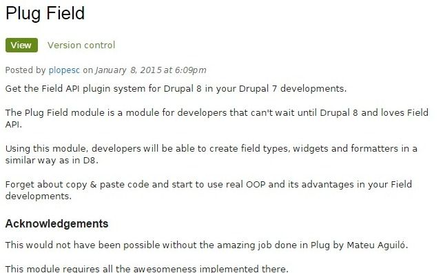 Get the Field API plugin system for Drupal 8 in your Drupal