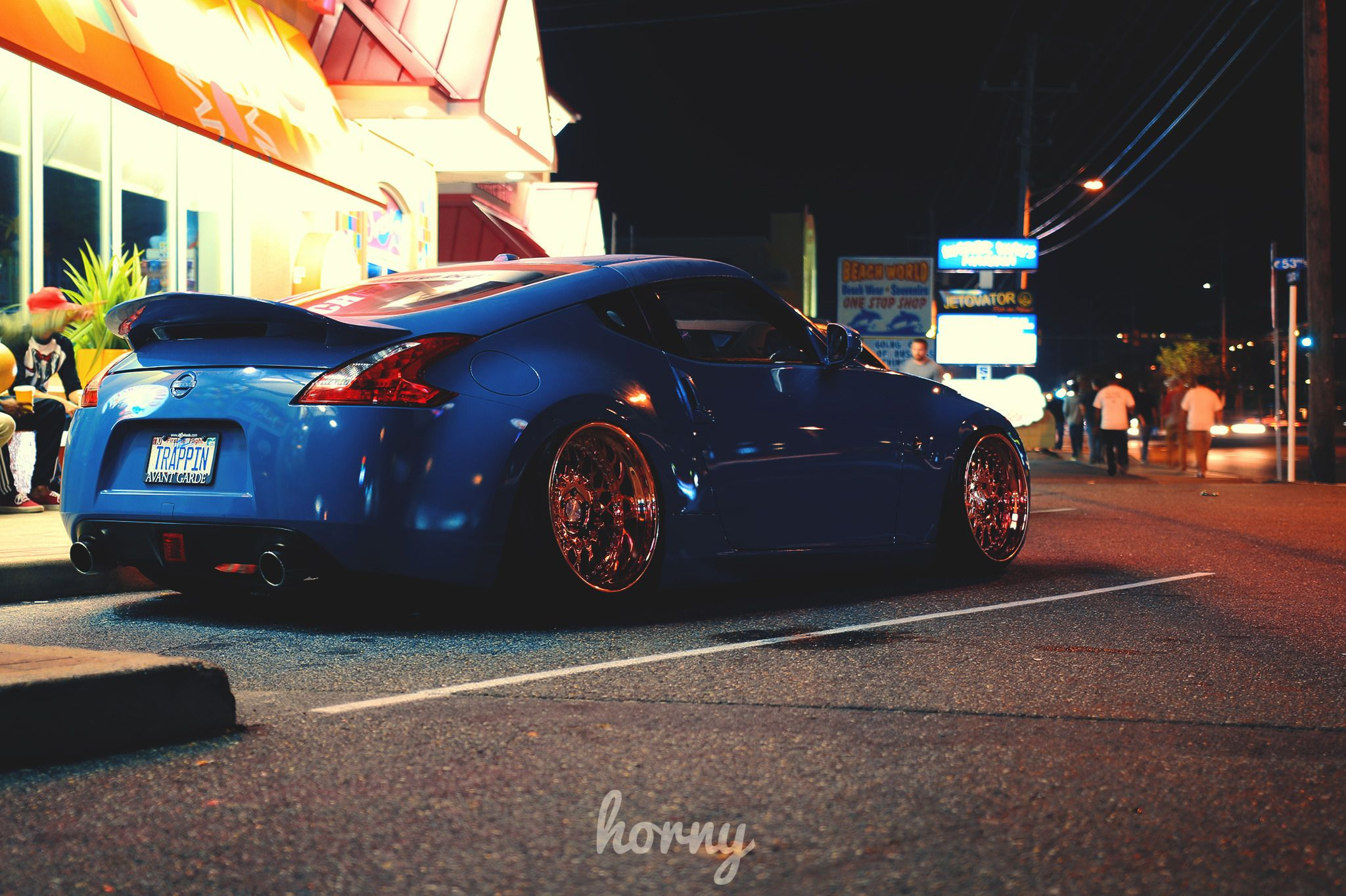 Beau Pic From Horny #Nissan #Nissan370Z #370Z #slammedjunction #bagged #cruise #