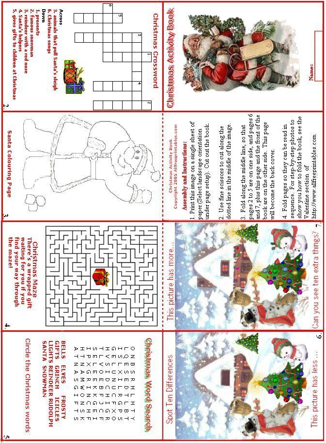 free printable christmas activity book it didnt print well for me and - Christmas Activity Printables