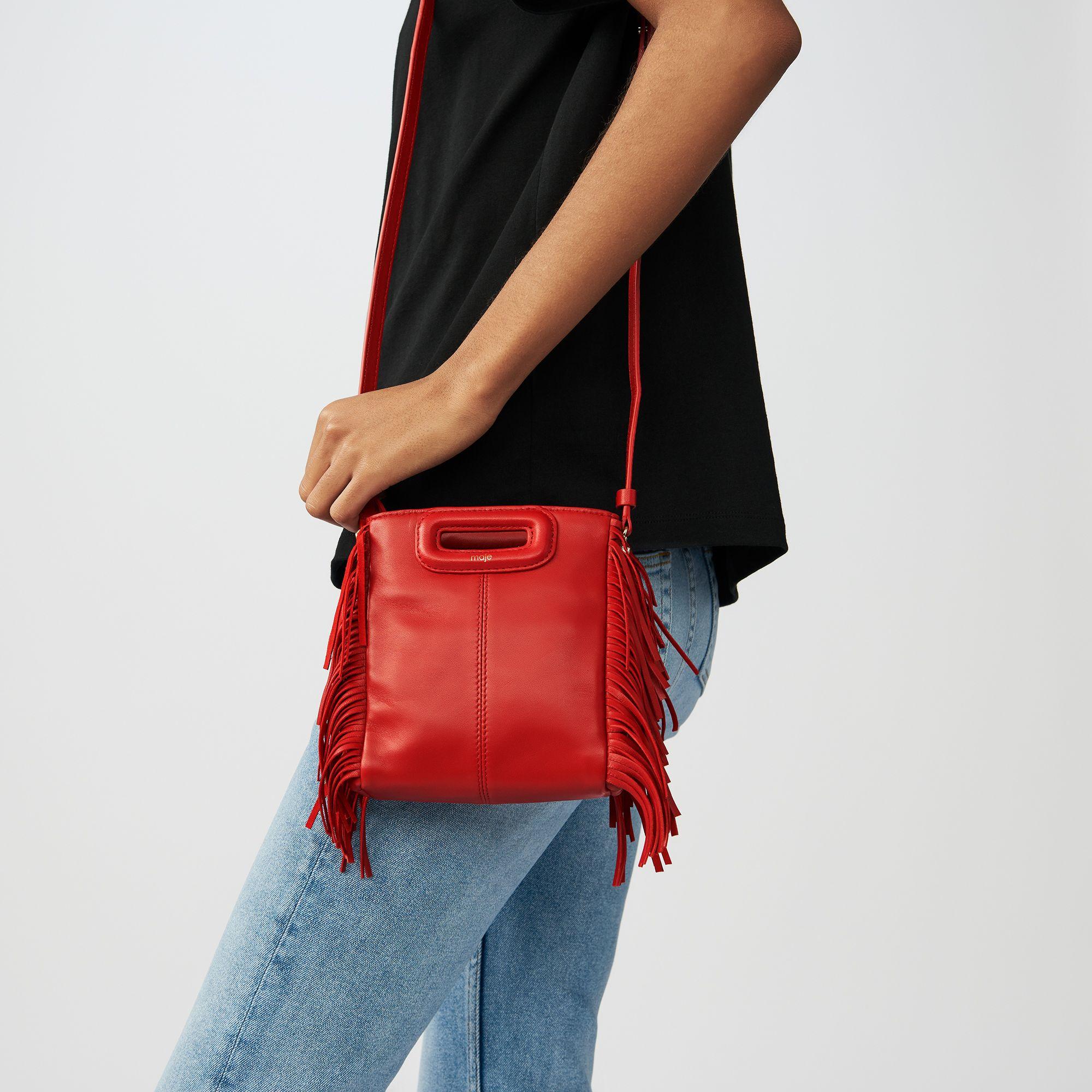 bbac94900b Sac M Mini en cuir avec franges | Maje M Mini bag | Mini Bag, Bags ...