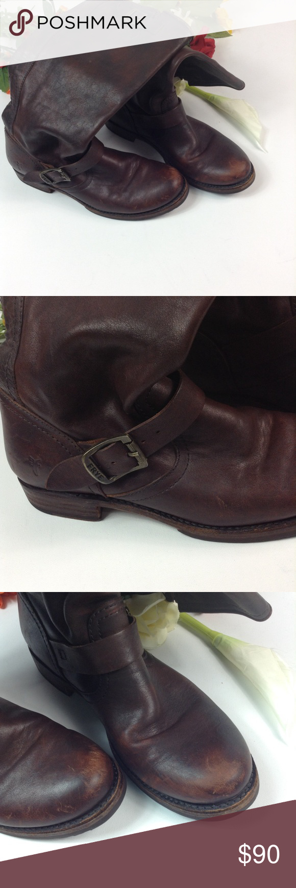 81ee749c2e07 FRYE Veronica Slouch boots Material  rugged leather Color  redwood Soft
