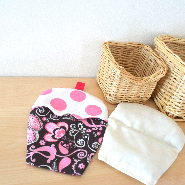 Microwaveable heating pad, Cupcake, heating bag, microwave