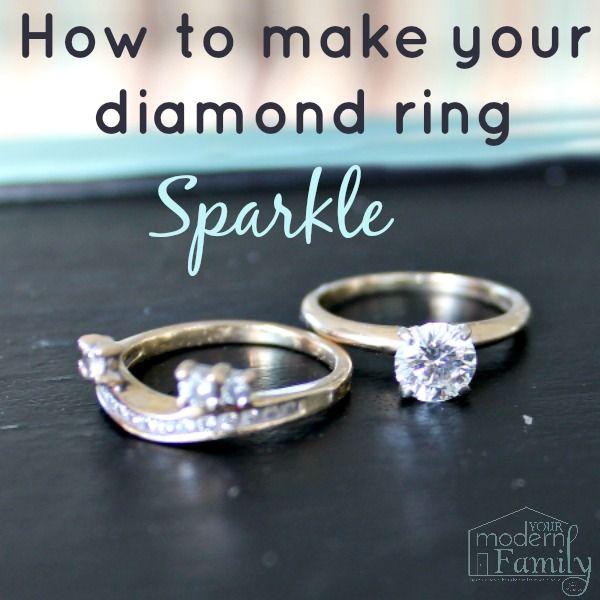 How to make your diamond ring sparkle diy ideas by becky mansfield how to make your diamond ring sparkle solutioingenieria Images