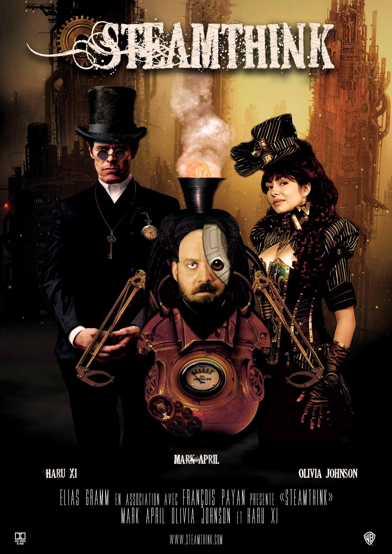 Affiche de film dans le style steampunk   Affiche de