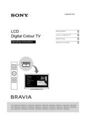 sony bravia kdl 32cx523 operating instructions manual electronics rh pinterest com Sony BRAVIA Back Panel Sony BRAVIA Replacement Parts