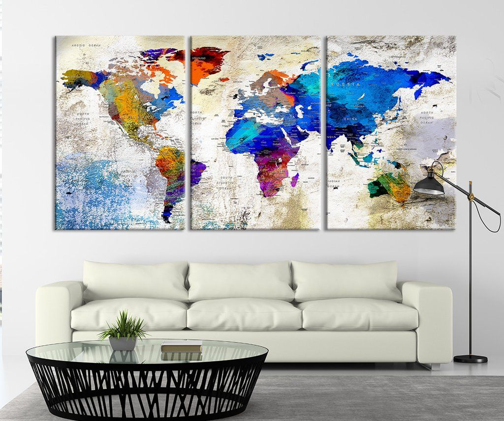 53868 large wall art push pin world map canvas print world map large wall art push pin world map canvas print world map wall art canvas gumiabroncs Image collections