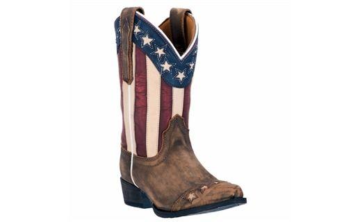 Dan Post - Kids Lil  Liberty Boot - Brown #BigRStores #America #AmericanFlag #Clothing #WesternWear #KidsClothing