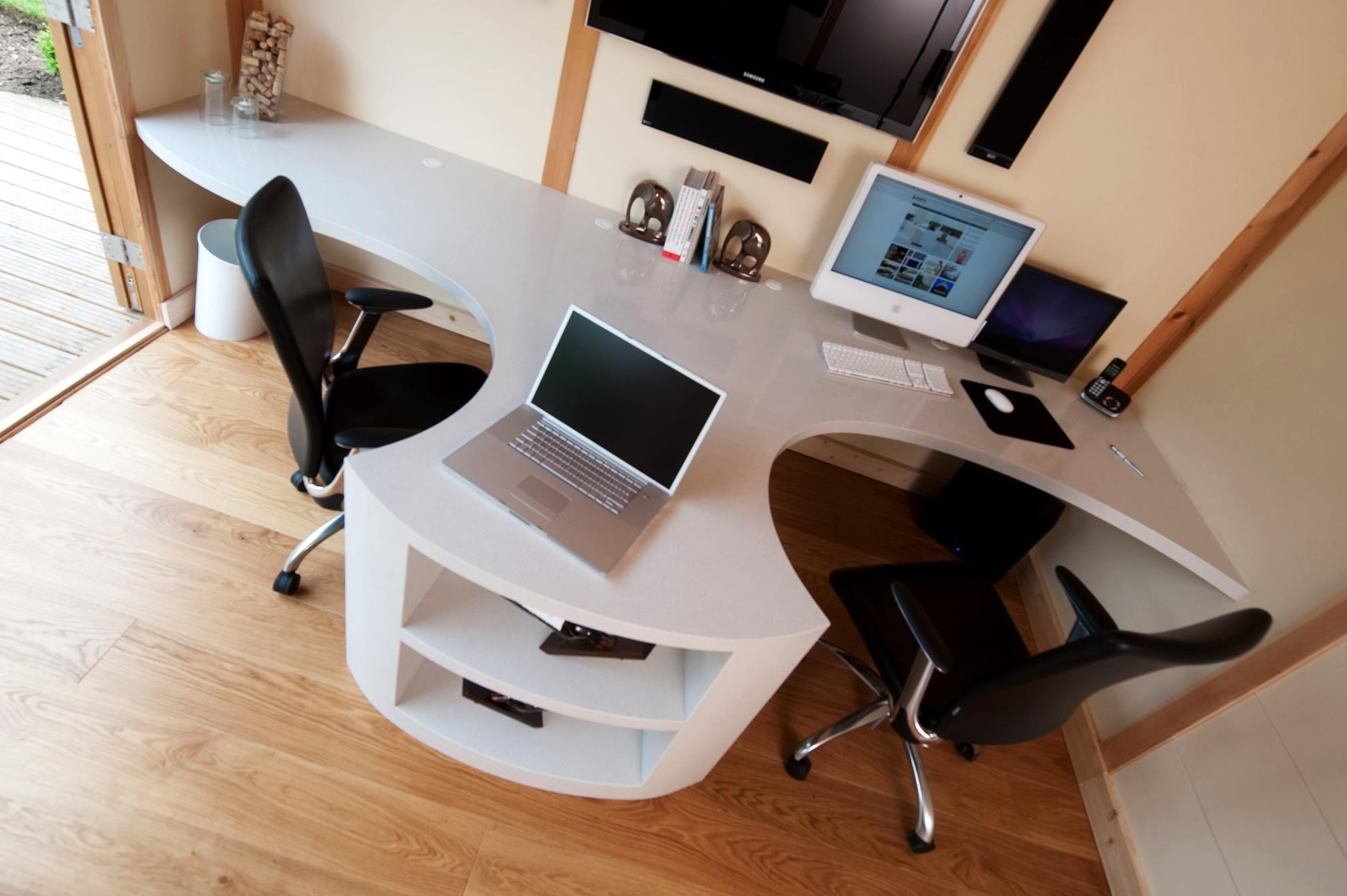 Nice office desk.....Polar Ice