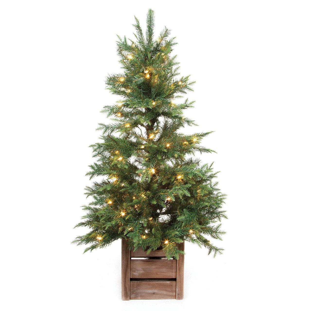 4' Prelit Christmas Tree in Rustic Stand 30010625
