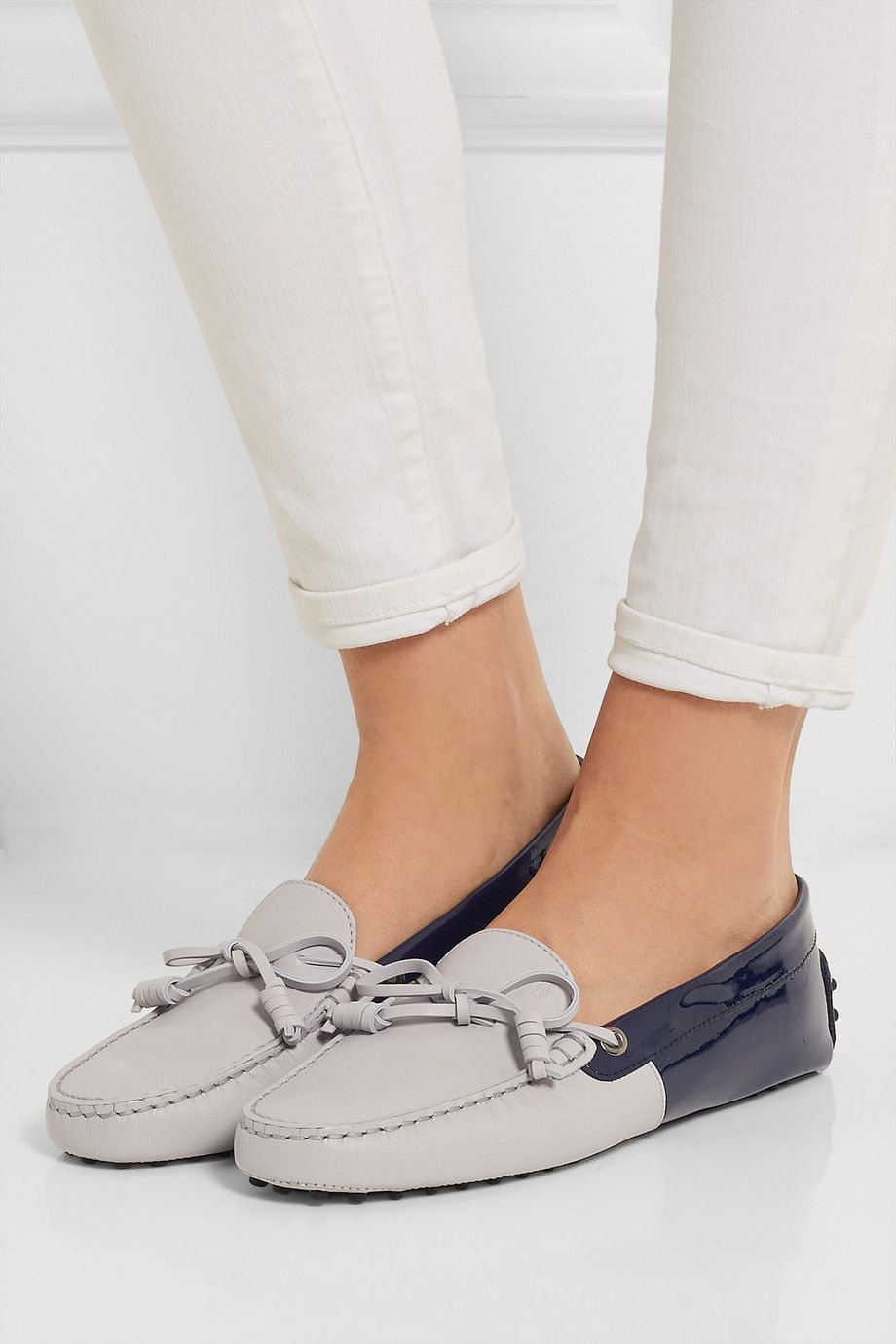 Tod's | Gommino two-tone leather loafers #gommino #tods #women #summer
