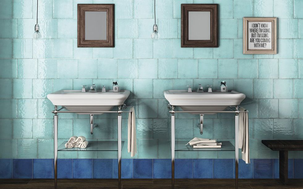 Iris carrelage blue bleu blue pinterest wall for Carrelage fresque
