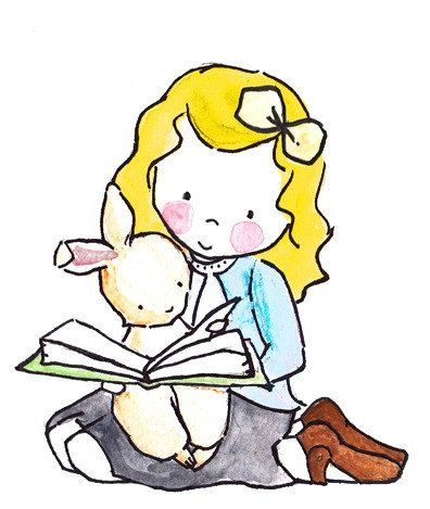 Read Me a Story or Two 8x10 Archival Print Yellow by ohhellodear, $20.00