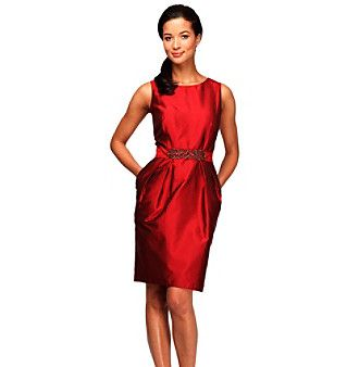 5d23a7607c Alex Evenings® Taffeta Dress With Embellished Belt available at  Herberger s .