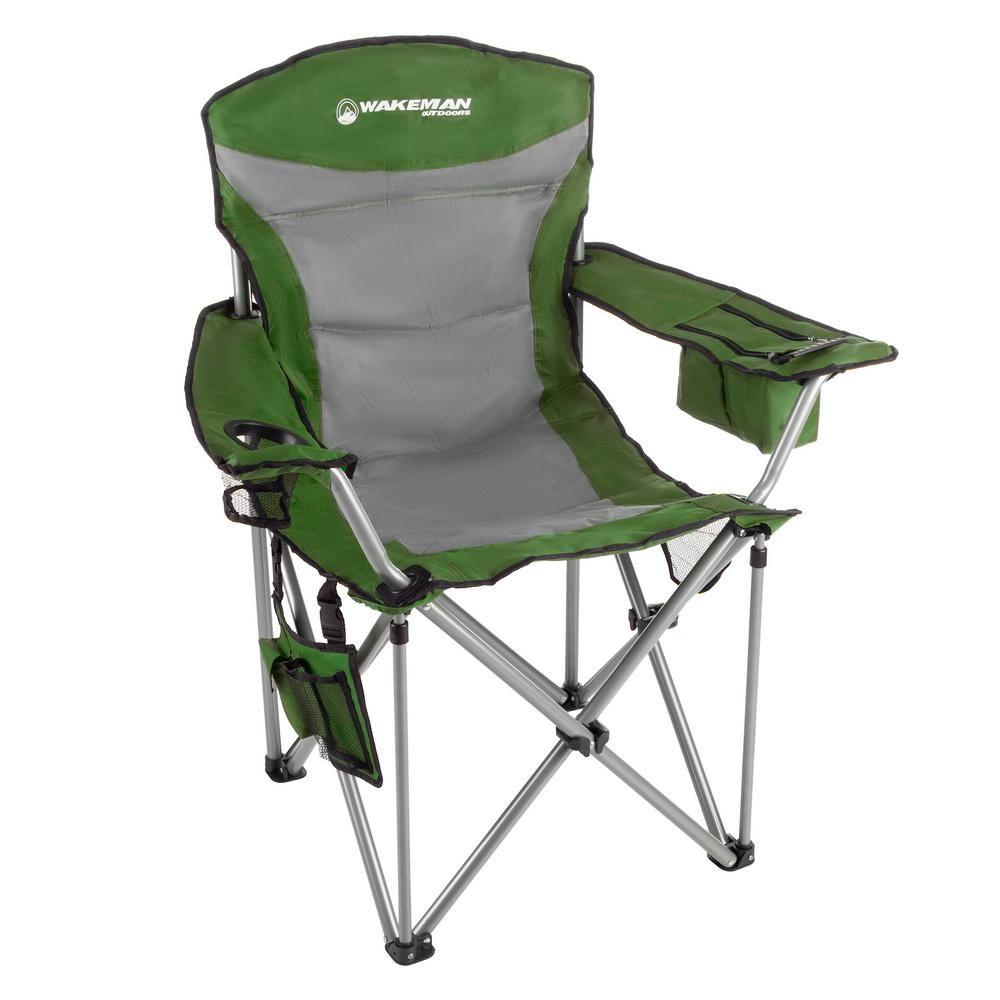 Wakeman Outdoors 850 Lbs Capacity Green Heavy Duty Camping Chair