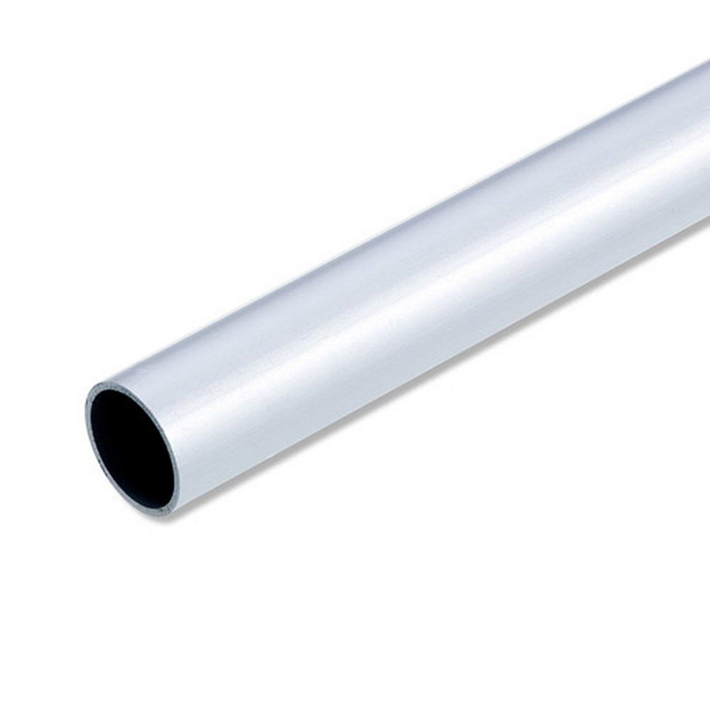 Tube Rond Aluminium Anodisé Argent L1 M X Diam25 Mm Alfer