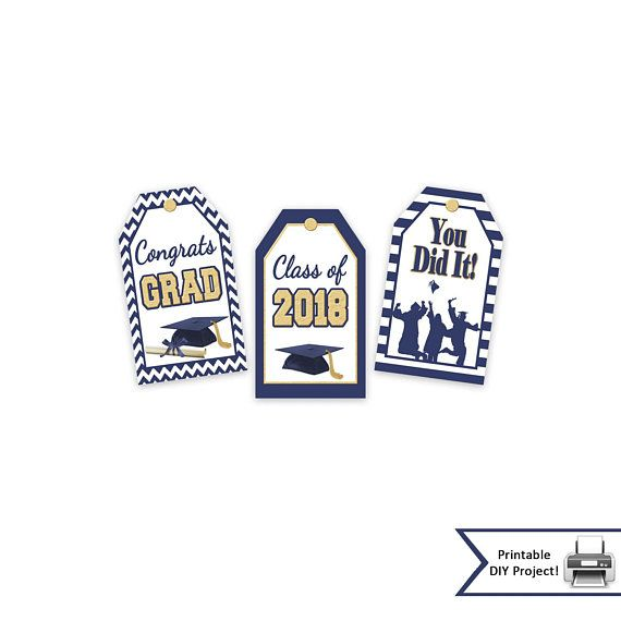 printable graduation gift tags class of 2018 high school college