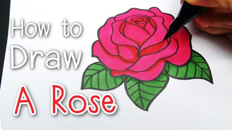Draw A Rose สอนวาดร ปดอกก หลาบ แบบง ายๆ Valentines Day Easy Tutorial For Beginners ดอกก หลาบ วาเลนไทน สอนวาดร ป