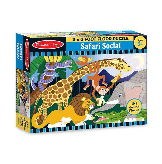 Safari Social Floor Puzzle 24 Pieces Floor puzzle