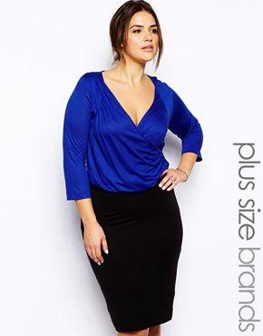 JUNAROSE Contrast Colored Dress Women blue Moins De 70 Dollars AD0VwVFnN
