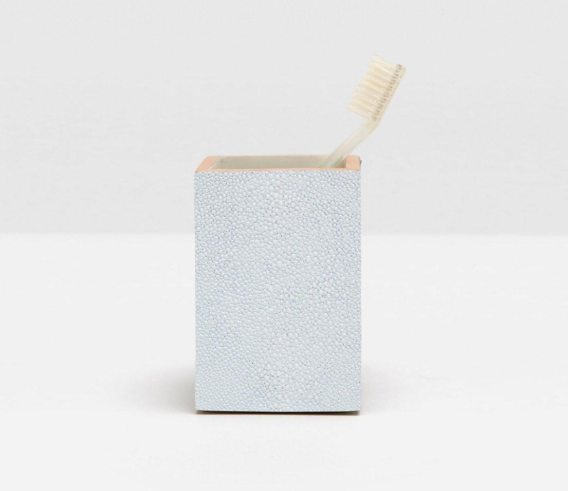 Pigeon Poodle Manchester Brush Holder In Cloud Grey Faux Shagreen Ampamp Comb Set