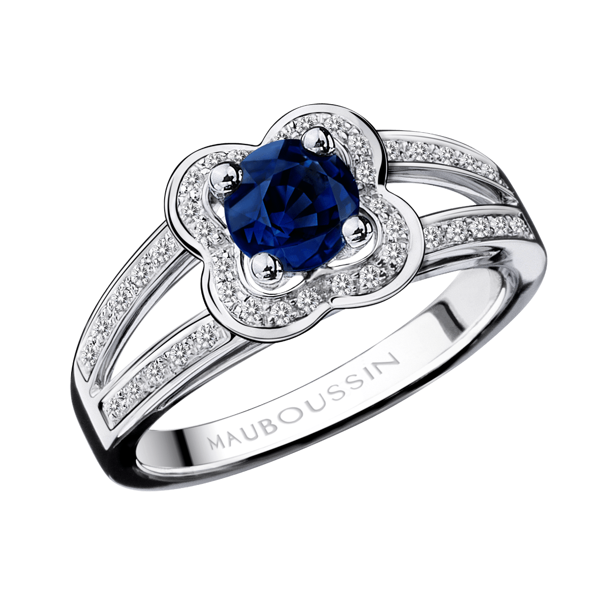 Fabuleux Sex and Love ring, Sapphires, white gold - Mauboussin | MAUBOUSSIN  BT95