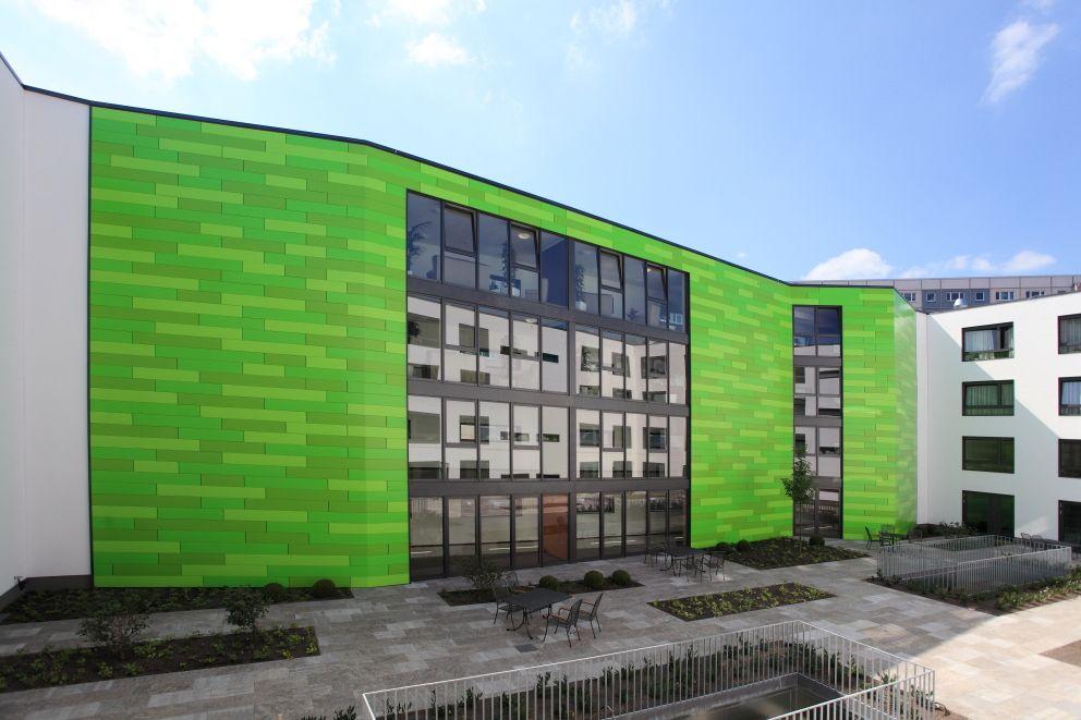 Architekturbüro Erfurt kalzip fc fassade seniorenresidenz am hirschgarten, erfurt