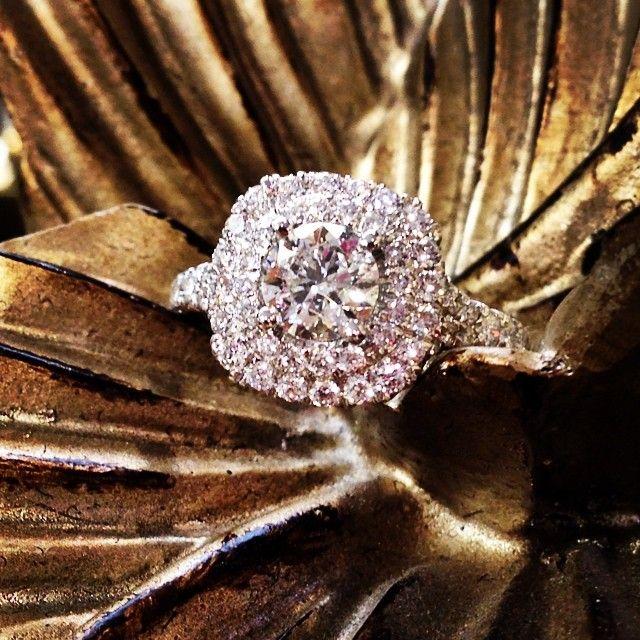 The best thing in life to hold onto is each other - Audrey Hepburn  #engagementring #doublehalo #diamondring #roundbrilliantcut #love #engagement #soldbyamber #amberatsissys  Facebook.com/amberatsissys Instagram.com/amberatsissys