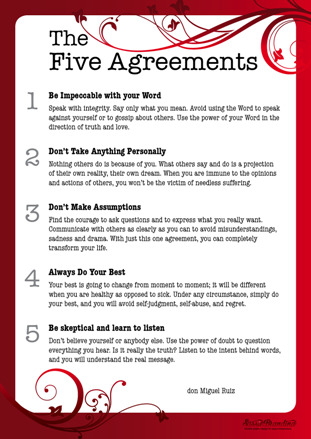 The Four Agreements And The Follow Up Book The Fifth Agreement By