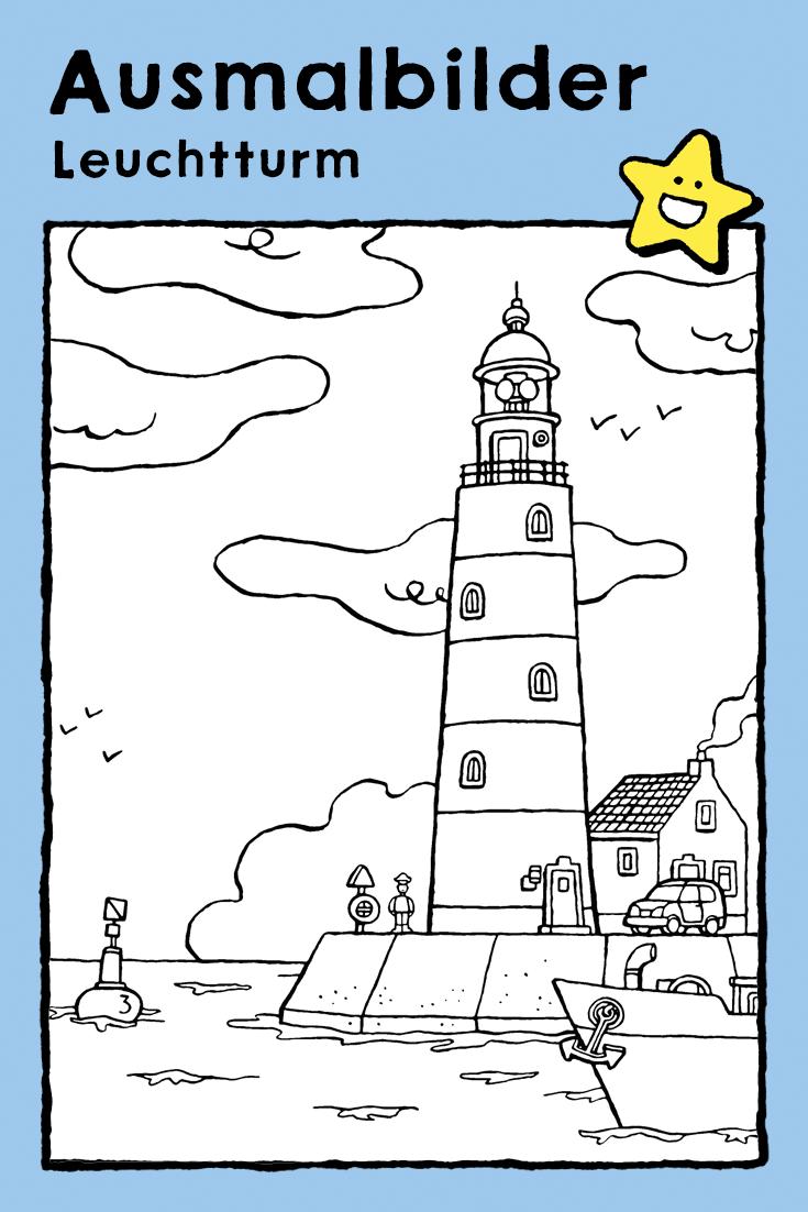 leuchtturm  kiddimalseite  leuchtturm ausmalbilder zum